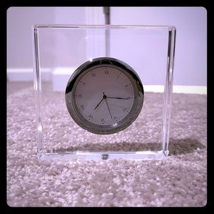 Anna New York Vola Lucite Clock.